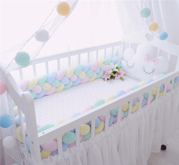 cotton bed bumper protector cradle newborn bedding bed baby braid baby bed protector for cot crib bumper for crib cotton newborn bedding sets folded pattern baby bumper bed aroundre movable wash cot sheet crib organizer quilt baby bedding