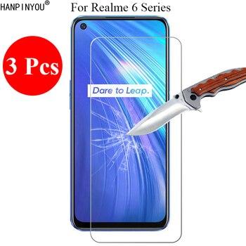 Перейти на Алиэкспресс и купить 3 шт./лот, новинка, 9H, 2.5D, закаленное стекло, защитная пленка для экрана Realme 6 6S 6i Pro