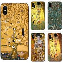 Gustav Klimt arbre vie baiser pour Huawei Mate 9 10 20 P8 P9 P10 P20 P30 Lite Mini Play Pro P smart Plus Z 2017 2019(China)