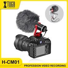 XTUGA Camera Microphone Mini Portable Microphone for Dslr Camera/Iphone Vedio Microfono Condensador Interview Mic Microfone