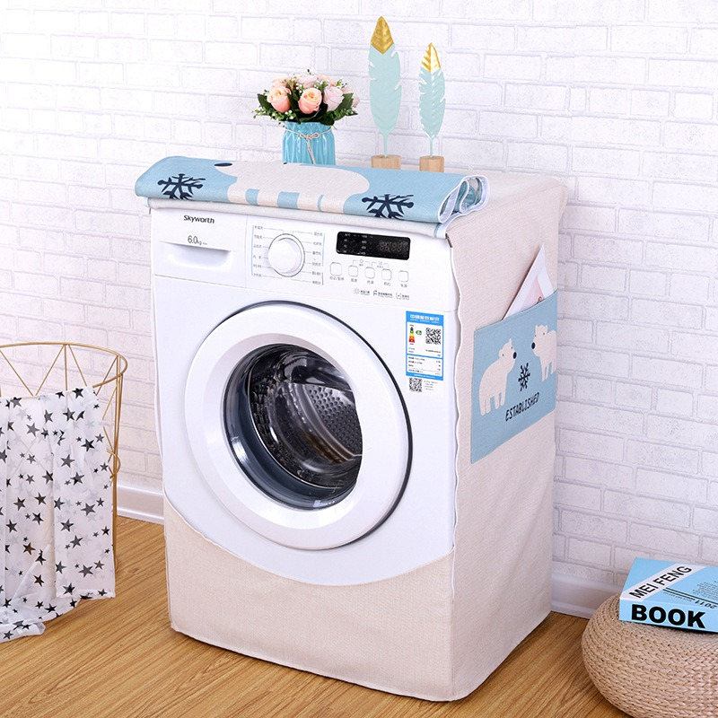Washing Machine Covers Made Of High Quality Cotton linen Material For Home Accessories 5