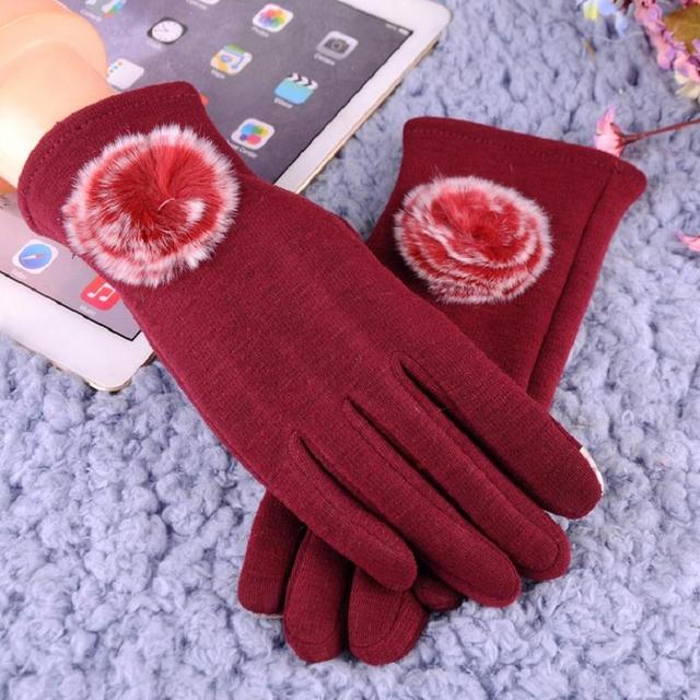 Solid Color Winter Gloves...