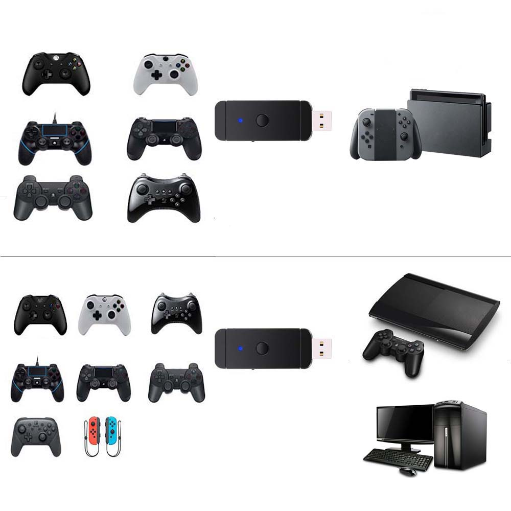 10 pcs  USB Game Controller converter Adapter For NS /PS4 /PS3 /Xbox One gamepad controller play on for Switch/ PS3/PC image