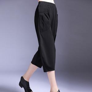 [EAM] High Elastic Waist Black Pocket Split Joint Harem Trousers New Loose Fit Pants Women Fashion Tide Spring Summer 2020 1W455