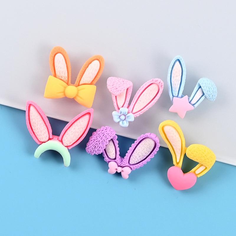 Rabbit ears decorative magnetic refrigerator magnet, interesting multi-color refrigerator magnet, cute blackboard sticker