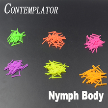 CONTEMPLATOR 6colors fly tying silicone nymph body materials conical cylinder rubber soft worm trout fishing caddis pupa bodies