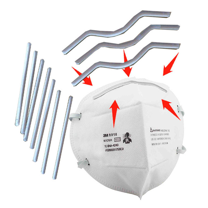 50pcs DIY Face Mask Nose Adjuster Nose Bridge Nose Clips Aluminum Strips With Adhesive For DIY Masks Mask Accessories Wholesale