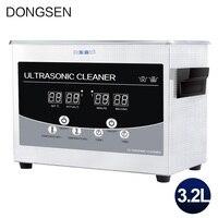 Limpiador ultrasónico Digital 3,2l temporizador de baño calentador joyería piezas de Metal aceite óxido degrasing placa madre ultrasonido lavadora