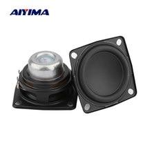 Aiyima 2 pçs 2 Polegada unidade de alto-falante áudio gama completa 53mm 4 ohm 12w alto-falante estéreo alta fidelidade diy bluetooth casa amplificador alto-falantes