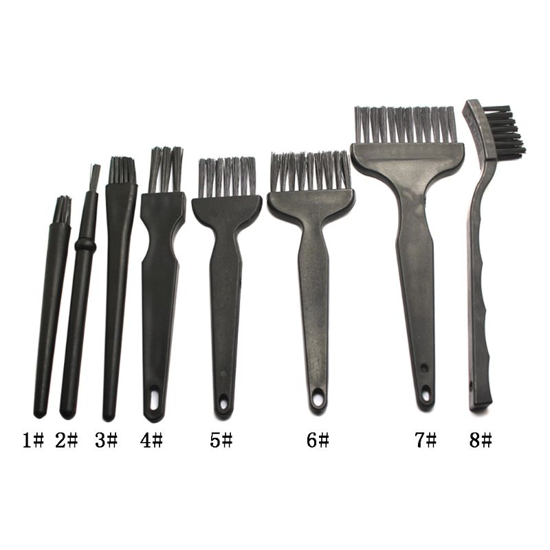 8Pcs/set Anti Static Brush ESD Safe Cleaning Brushes For Mobile Phone Table PCB