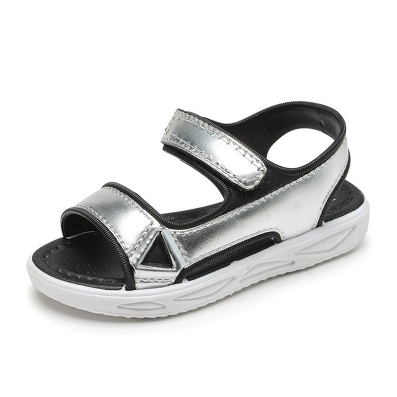 NEW 2020 Fashion Children Sandals Soft Comfortable Velcro Girls Princess Shoes Hollow Out Breathable Beach Shoes  02A