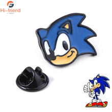 Baru Sonic The Hedgehog Enamel Pin Lucu Video Game Bros Dingin Topi Tas Aksesori Hadiah(China)