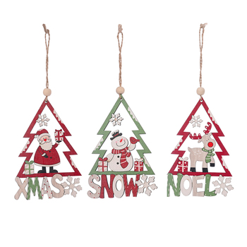 Christmas Atmosphere Decoration Car Snowman Santa Claus Peach for Home Party Decor Kids Toys Christmas Ornaments image