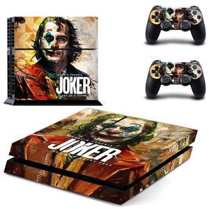 Image 1 - DC Film Joker PS4 çıkartmalar PlayStation 4 cilt Sticker oyun çıkartmaları PlayStation 4 için PS4 konsolu ve denetleyici skins vinil