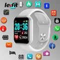 Lesfit Y68 مقاوم للماء الأبيض الرقمية ساعة ذكية أنيقة الاطفال الأساور ساعة إلكترونية رصد HR/BP معدل عداد الخطى Smartwatch