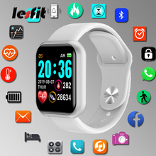Lesfit Y68 Waterproof White Digital Smart Watch Stylish Kids