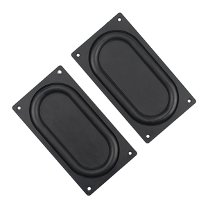 Image 2 - GHXAMP 135*75MM Bass Diaphragm Radiator Low Frequency Rubber 3.5 inch 4 inch Passive bass Vibration film New 2PCS