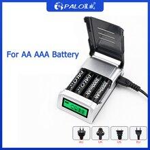 PALO C905 wyświetlacz LCD z 4 sloty inteligentna ładowarka baterii do baterii AA / AAA NiCd akumulatory NiMh szybkie ładowanie