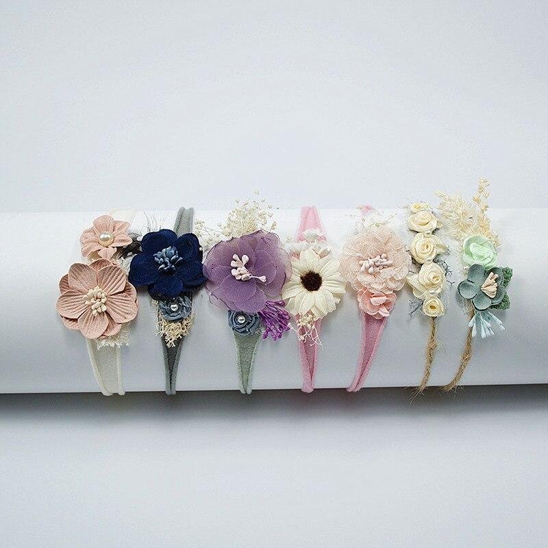 Kids Toddler  Newborn Headband  Baby Girl Hearband Hair Accessories Flower Girl Headwear Newborn Photography Props