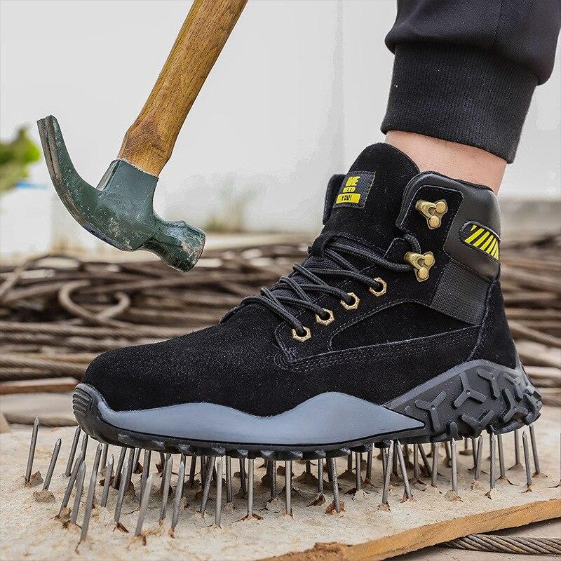 DAILOU imperméable hiver hommes bottes avec fourrure chaude neige femmes bottes hommes travail chaussures décontractées baskets Indestructible grande taille 48