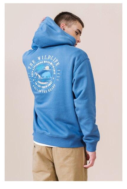 Fleece Hoodies for Men with explorer print