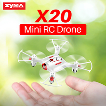 Original Syma X20 2.4G 4CH Gyro Pocket Drone  Quacopter With Headless Mode Altitude Hold 3D flip RC Aircraft Children Toys Gift