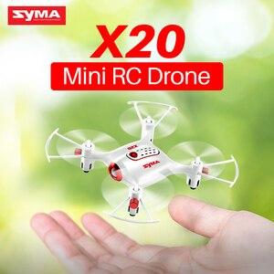 Image 1 - Original Syma X20 2.4G 4CH gyroscope poche Drone Quacopter avec Mode sans tête Altitude tenir 3D flip RC avion enfants jouets cadeau