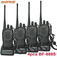 4 pçs/set novo original baofeng bf888s walkie talkie BF-888s 5w 16ch uhf 400-470mhz bf 888s rádio bidirecional