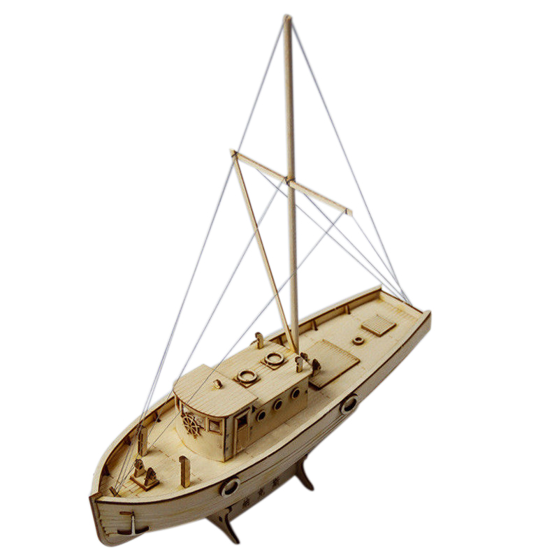 Ship Assembly Model Diy Kits Wooden Sailing Boat 1:50 Scale Decoration Toy Gift