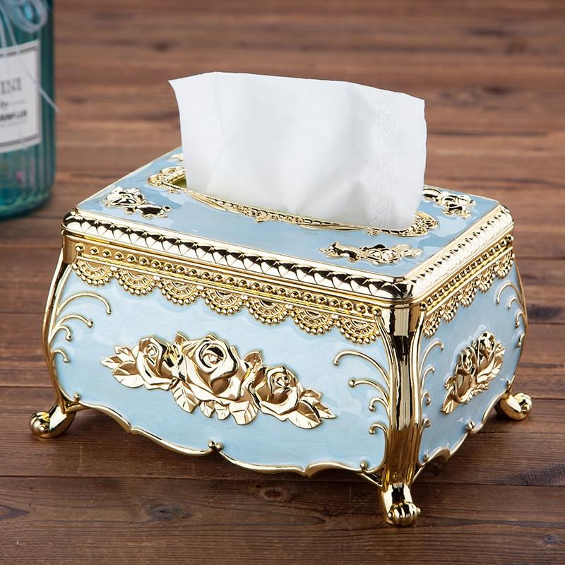 European style acrylic tissue box luxury KTV hotel tissue box tissue rack desk accessories home office bar desktop tissue