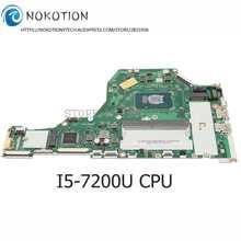 NOKOTION материнская плата для ноутбука ACER Aspire A515 A515-51 Материнская плата ноутбука I5-7200U Процессор DDR4 NB.GP411.003 NBGP411003 C5V01 LA-E891P