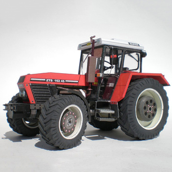 Zetor 162 45 Tractor 1:32 Czech Folding Cutting Mini 3D Paper Model Papercraft DIY Adult Handmade Craft Toys ZX-024 image