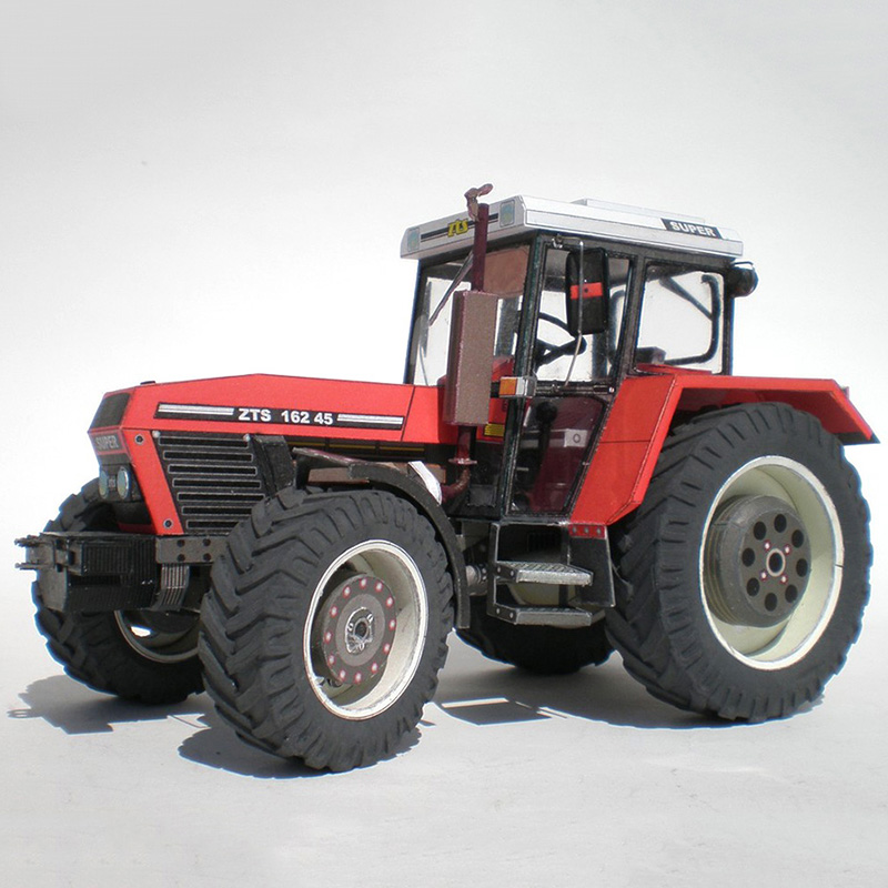 Zetor 162 45 Tractor 1:32 Czech Folding Cutting Mini 3D Paper Model Papercraft DIY Adult Handmade Craft Toys ZX-024