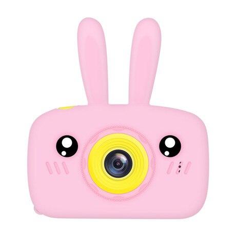 Мультяшная цифровая камера, детские игрушки, креативная развивающая игрушка для детей, аксессуары для обучения фотографии, подарки на день рождения, детские товары - Цвет: Pink bunny