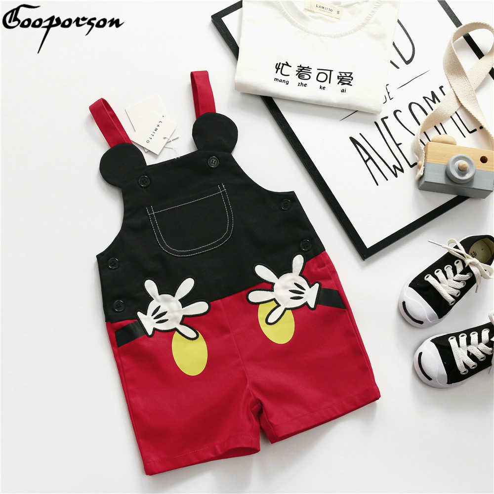 2019 Summer New Product Children's Mickey Overall  Fashionable Style Kids Cute Belt Trousers Girl Clothes Boy's Oerall Pants