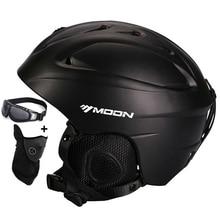 MOON, лыжный шлем, цельный, литой, лыжный шлем для взрослых и детей, снежный шлем, безопасный скейтборд, лыжный шлем для сноуборда