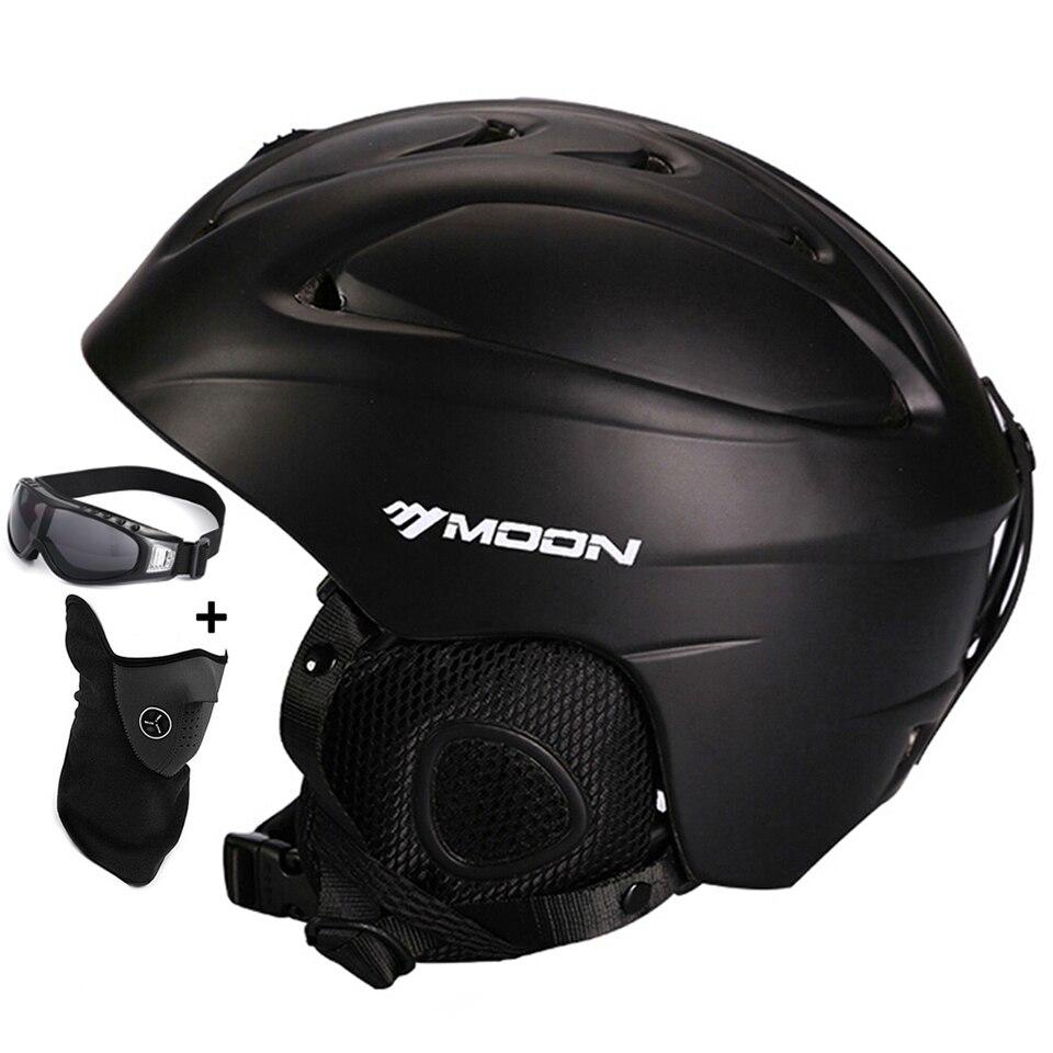 Lua venda quente capacete de esqui integralmente-moldado capacete de esqui para adultos e crianças capacete de neve segurança skate esqui snowboard capacete