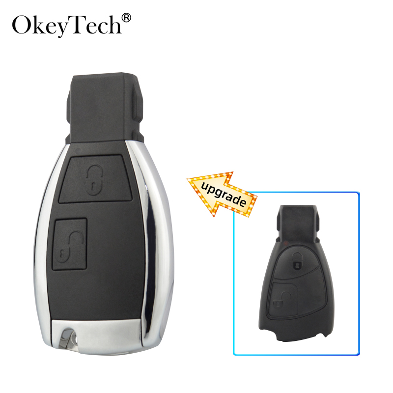 Okeyetch 2 Button Upgraded <font><b>Remote</b></font> Smart Fob <font><b>Key</b></font> Shell For MB Mercedes Benz CLS C E S <font><b>W124</b></font> W202 with Uncut Blank Blade image