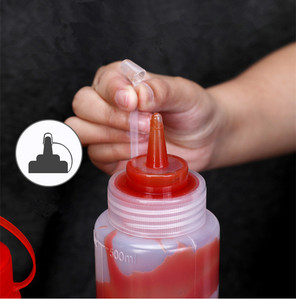 Image 2 - UMETASS Empty plastic squeeze bottle condiment dispenser with Twist On Cap for Oil Salad ketchup container BPA Free