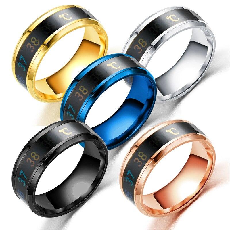 FACEINS Волшебное кольцо для женщин и мужчин, отображение температуры, умные кольца, индивидуальная титановая сталь, ювелирные аксессуары для ...