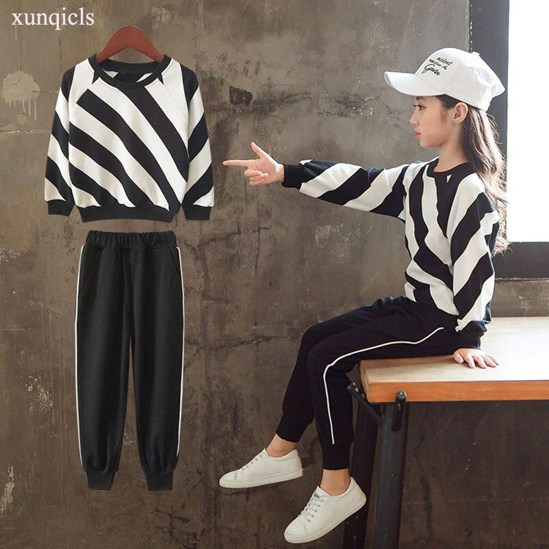 Весенне осенние комплекты одежды для девочек детские спортивные костюмы Детская футболка с длинными рукавами + штаны комплект верхней одежды из 2 предметов для девочек|Комплекты одежды| | - AliExpress
