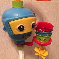 Brinquedos de banho do bebê acessórios da banheira chuveiro waterwheel spray água jogar jogo para banho banheiro mergulhador bebês brinquedo crianças brinquedos de praia