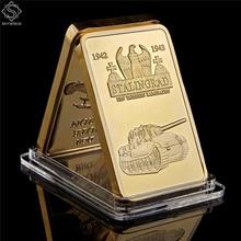 1942-1943 World War II Russian Tank Battle of Stalingrad War Doom 999/1000 Reichs Gold Bullion Bar Challenge Collection Coin