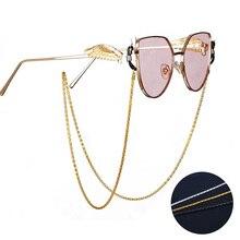 2020 мода очки цепочка маска цепочка держатель полый металл цепочка ремешок защита от потери ремешок цепочка повседневная одежда солнцезащитные очки шнуры аксессуары