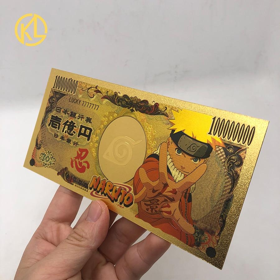 1 шт. 10000 японский аниме NARUTO Sasuke Namikaze 5000000 иен золотая банкнота для классической коллекции памяти детства