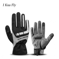 Winter Men Touchscreen Cycling Gloves Bicycle Reflective Breathable Silicone Anti slip Full Finger Mountain Road Bike Gloves z4