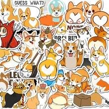 50 PCS Welsh Corgi Dog Sticker Waterproof For on Skateboard Hydro Fask Laptop Suitcase Cute Animal Cartoon Stickers