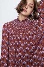 2020 New Spring Summer European Elasticity Print zaraing women Shirt sheining vadiming female shirt streetwear XDL2611