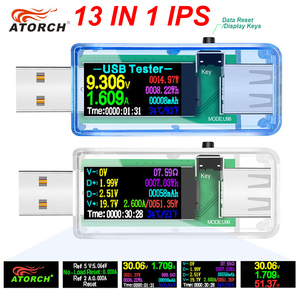 12/13 in 1 usb tester dc power meter digital voltmeter voltimetro volt meter power bank wattmeter voltage tester doctor detector
