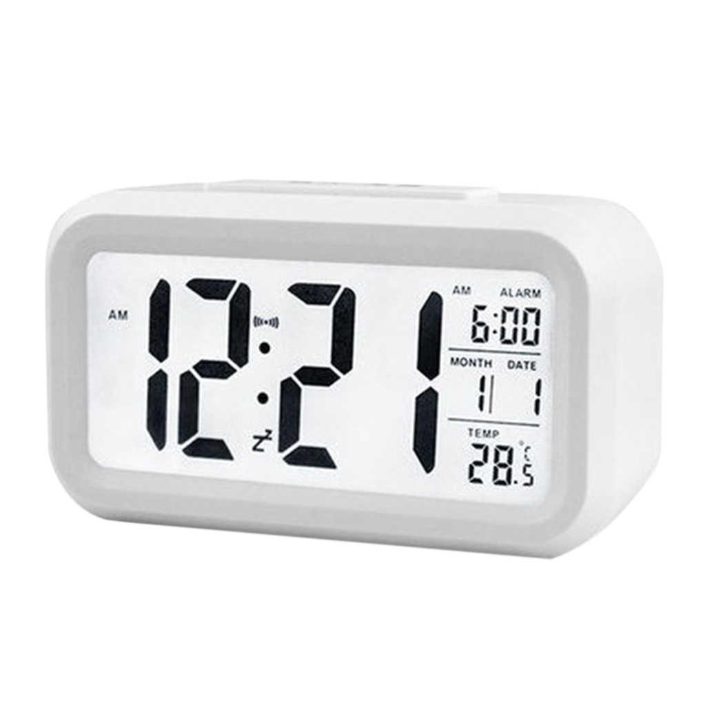 Elektrische Desktop Tisch Uhr Elektronische Alarm Digitale Großen Led-bildschirm Schreibtisch Uhr Daten Zeit Kalender Schreibtisch Uhr